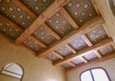 Casita Stenciled Ceiling