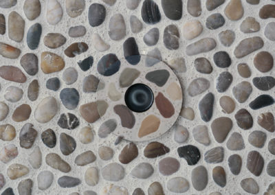 Hand painted light trim in stones.